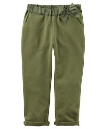Carter's French Terry Bow Pants - Green