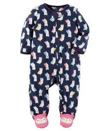 Carter's Fleece Zip-Up Sleep Suit - Blue