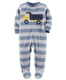 Carter's Fleece Zip-Up Sleep & Play - Blue