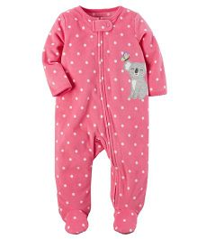 Carter's Fleece Zip-Up Sleep Suit - Pink