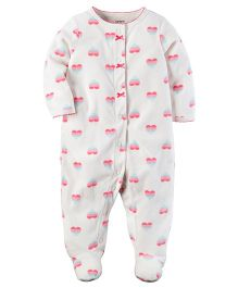 Carter's Fleece Snap-Up Sleep Suit - Grey