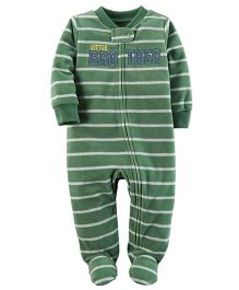 Carter's Fleece Zip-Up Sleep & Play - Green