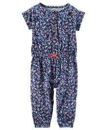 Carter's Floral Jumpsuit - Blue