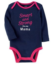 Carter's Smart And Strong Collectible Bodysuit - Navy Blue