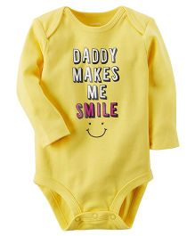 Carter's Daddy Makes Me Smile Collectible Bodysuit - Yellow