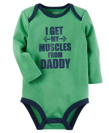 Carter's Muscles From Daddy Collectible Bodysuit - Green