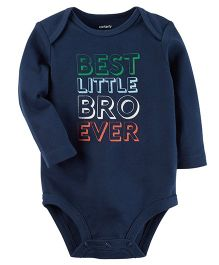 Carter's Best Lil Bro Collectible Bodysuit - Navy Blue
