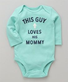 Carter's This Guy Loves His Mommy Collectible Bodysuit - Green