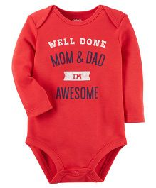 Carter's I'm Awesome Collectible Bodysuit - Red