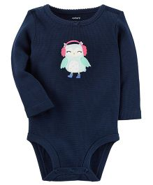 Carter's Thermal Bird Patch Bodysuit - Navy Blue