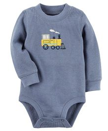 Carter's Thermal Onesie Train Engine Patch - Grey