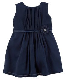 Carter's Holiday Rosette Dress With Bloomer - Navy Blue