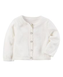 Carter's Holiday Cardigan - White