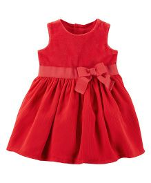 Carter's Holiday Bow Dress - Red