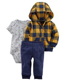 Carter's 3 Piece Coordinate Set - Grey Navy Yellow
