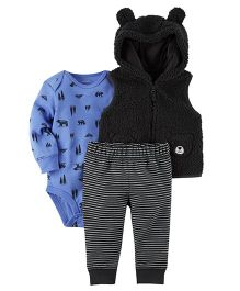 Carter's 3-Piece Little Jacket Set - Black