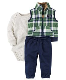 Carter's 3-Piece Little Jacket Set - Green Navy