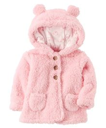 Carter's Sherpa Hooded Jacket - Pink