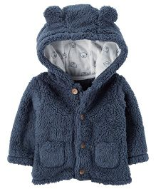 Carter's Sherpa Hooded Jacket - Navy