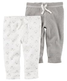 Carter's 2-Pack Babysoft Pants - Grey Off White