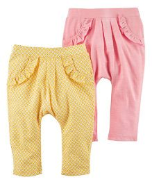 Carter's 2-Pack Jersey Pants - Yellow Pink