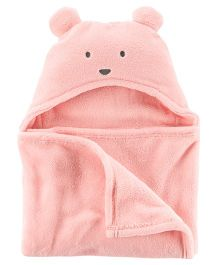 Carter's Sherpa Hooded Blanket - Pink