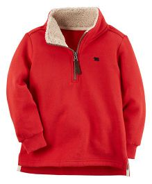 Carter's Fleece Half-Zip Sweatshirt - Red