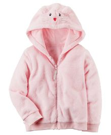 Carter's Fuzzy Mouse Hoodie - Light Pink