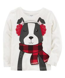 Carter's Scarf Puppy Tee - White