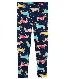 Carter's Puppy Print Leggings - Navy Blue