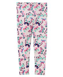 Carter's Butterfly Print Leggings - Multicolour
