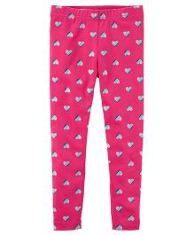 Carter's Heart Print Leggings - Pink