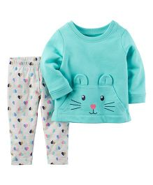 Carter's 2-Piece Character Top & Legging Set - Blue & Grey