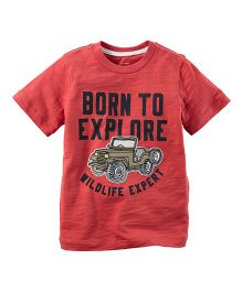 Carter's Born To Explore Graphic Tee - Red