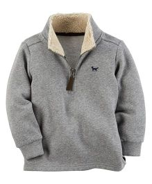 Carter's Fleece Half-Zip Sweatshirt - Grey