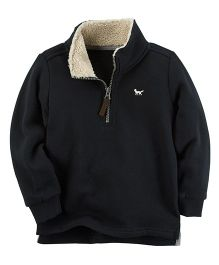 Carter's Fleece Half-Zip Sweatshirt - Black