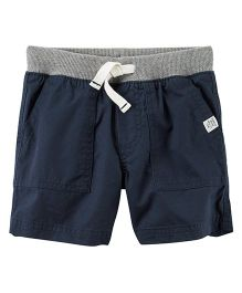 Carter's Pull-On Twill Shorts - Navy