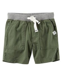 Carter's Pull-On Twill Shorts - Olive Green