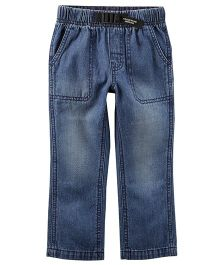 Carter's Buckled Denim Jeans - Blue