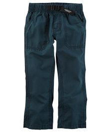 Carter's Buckled Poplin Pants - Navy
