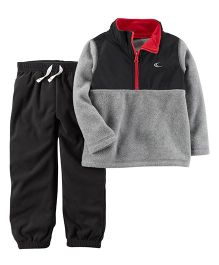 Carter's 2-Piece Fleece Pullover & Jogger Set - Grey Black