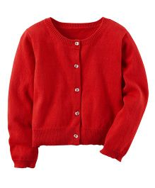 Carter's Knit Cardigan - Red
