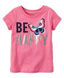 Carter's Be Happy Graphic Tee - Pink