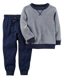 Carter's 2-Piece Striped T-Shirt & Jogger Set - Navy Grey