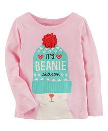 Carter's Beanie Season Tee - Light Pink