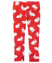 Carter's Bunny Leggings - Red