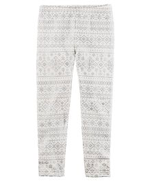 Carter's Snowflake Leggings - Off White
