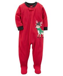 Carter's 1-Piece Christmas Sleep Suit - Red