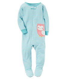 Carter's 1 Piece Snug Fit Cotton PJs - Blue