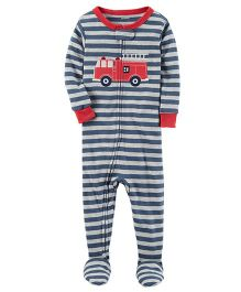 Carter's 1 Piece Snug Fit Cotton PJs - Navy Blue